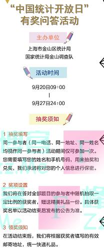 金山统计金山区第十届中国统计开放日有奖知识问答(截止9月27日)