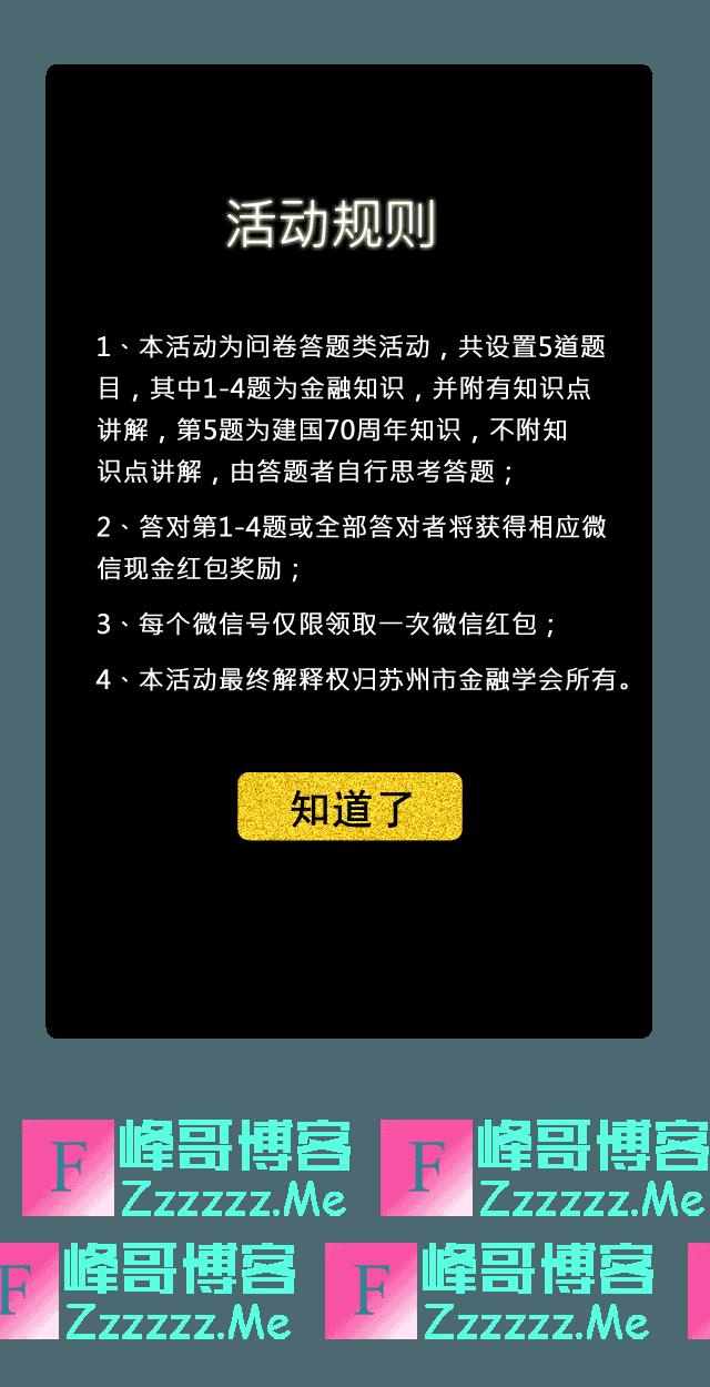 上银苏州金融知识微信竞答宣传活动(截止不详)