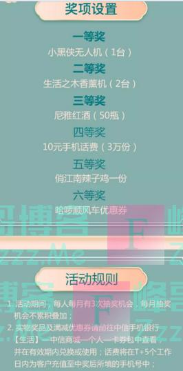 中信优享+大转盘丨中信银行年终回馈 100%有礼(截止12月31日)