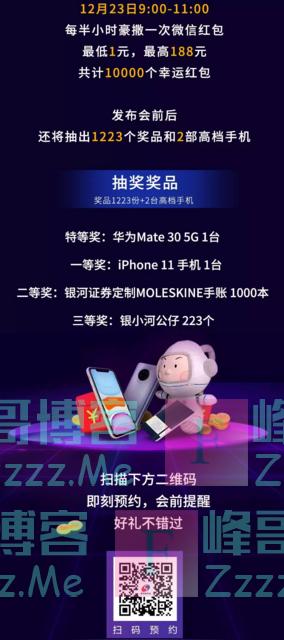 中国银河证券万份红包已备好 只等你来看直播(截止12月23日)