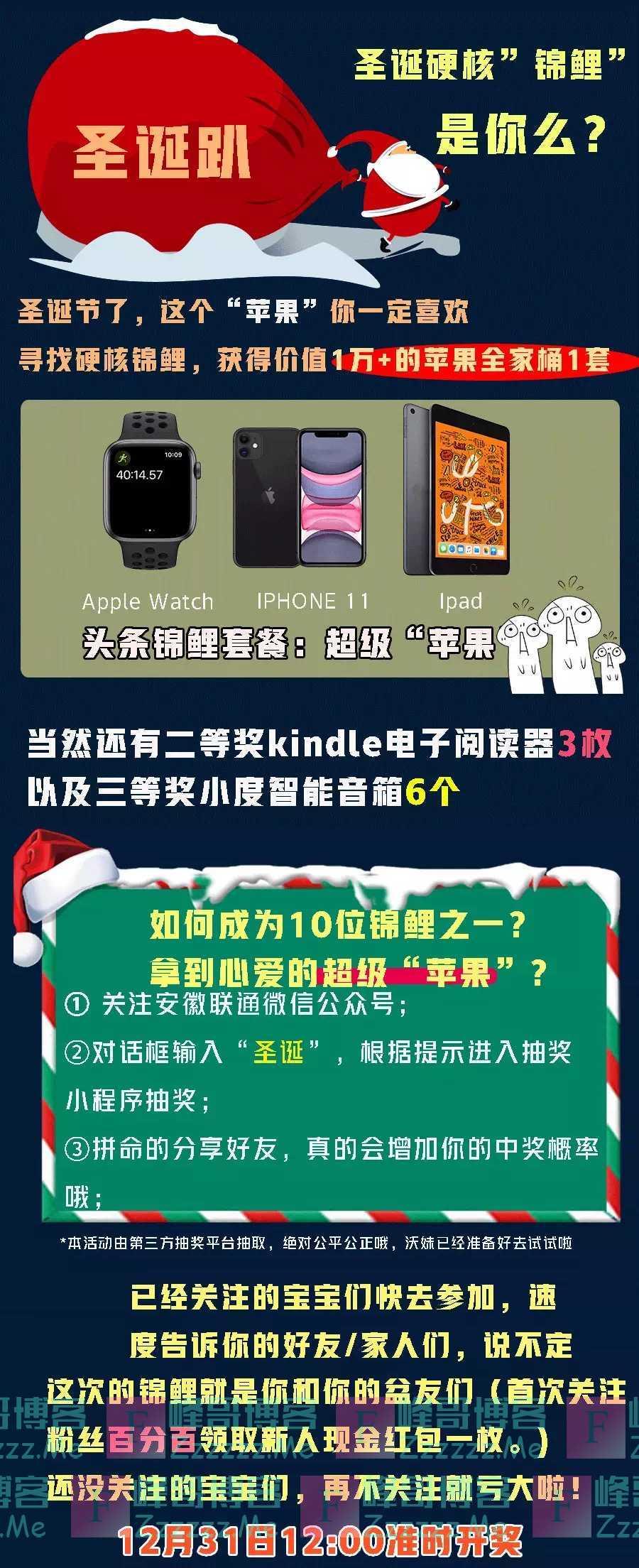 安徽联通圣诞锦鲤(12月31日截止)