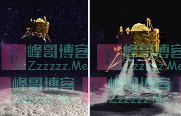 印度登月器十分失败:一共五台发动机 第一台点火后就翻了跟头