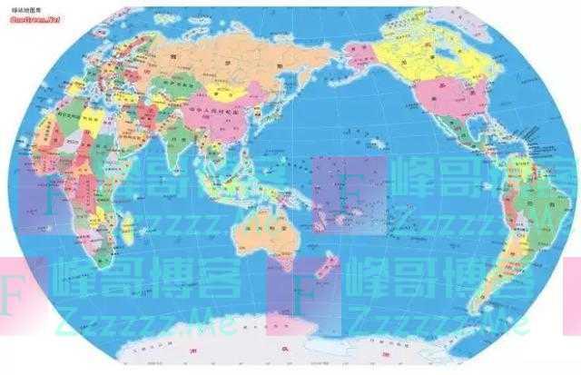 """科普:中国是""""东方大国"""", 为什么世界地图却把美国画在东边?"""