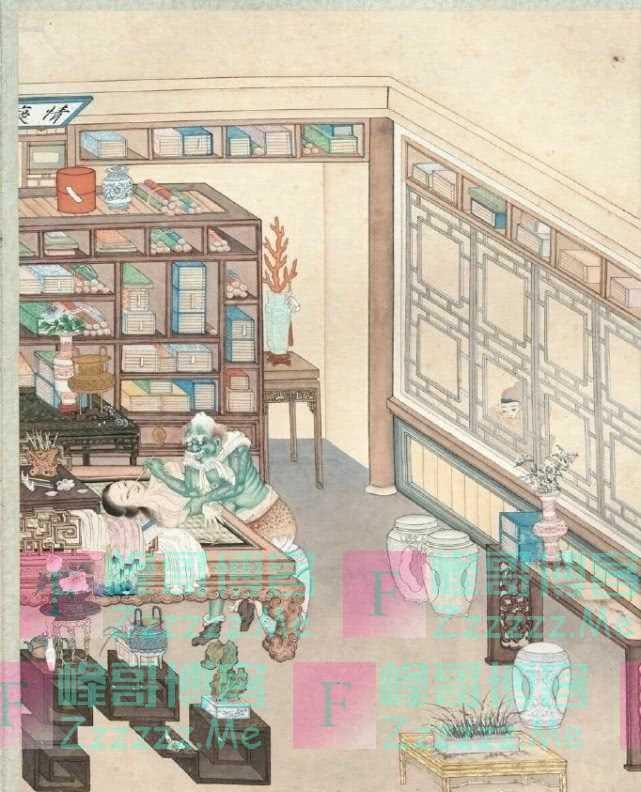 一张聊斋女鬼图,是清朝无名画师所画,一般人晚上都不敢看