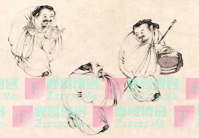 一幅奇怪古画,只画了3个老头,却让很多人羞愧