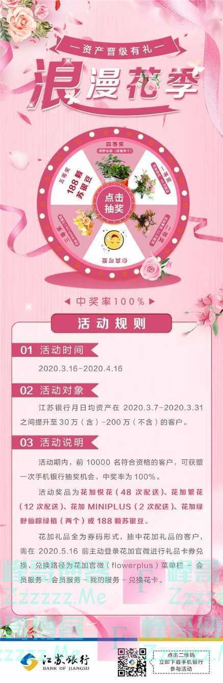 江苏银行融享财富资产晋级有礼(截止4月16日)