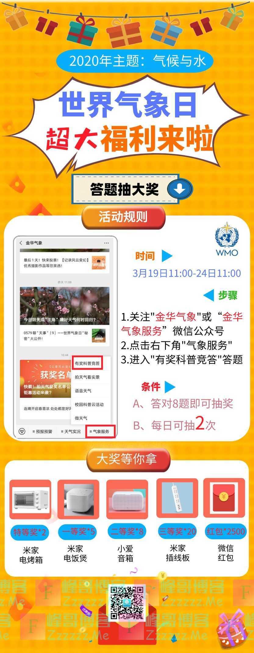 金华气象 气象科普知识竞答(截止3月24日)