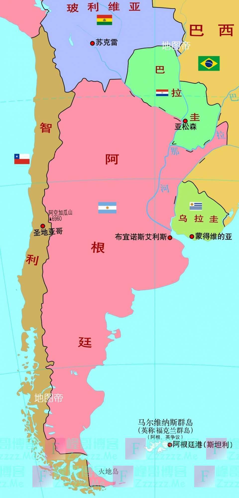 """世界上有几个国家能""""装得下""""智利?"""