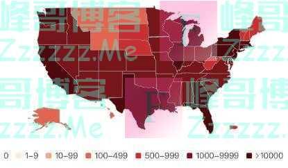 美国确诊破53万, 单日死亡步入激增阶段, 全美进入重大灾难状态