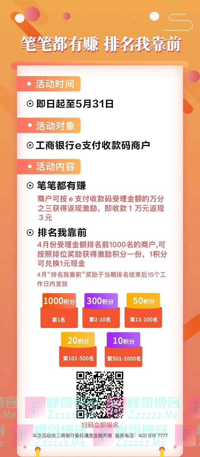工商商户之家工商银行e支付收款码商户,千元福利限时领取(截止5月31日)