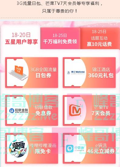 中国联通客服五星云尊贵(截止4月20日)