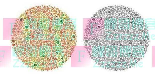 色盲测试:看不到图中的12和9,很有可能是色盲,考不了驾照
