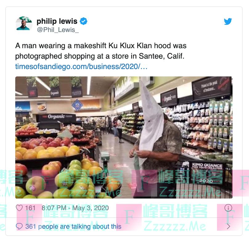 """加州超市惊现""""三K党"""",小心白人至上主义抬头!"""