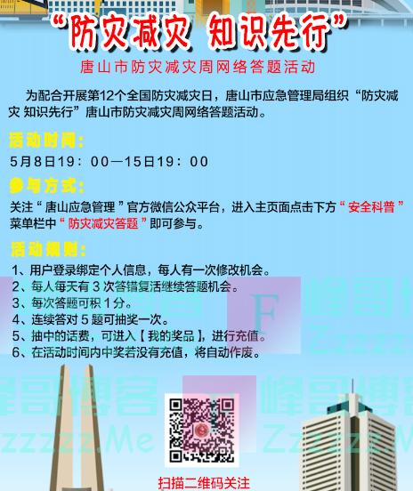 唐山应急管理防灾减灾宣传周全民答题王(截止5月15日)