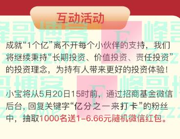 招商基金破亿!感恩有你(截止5月20日)