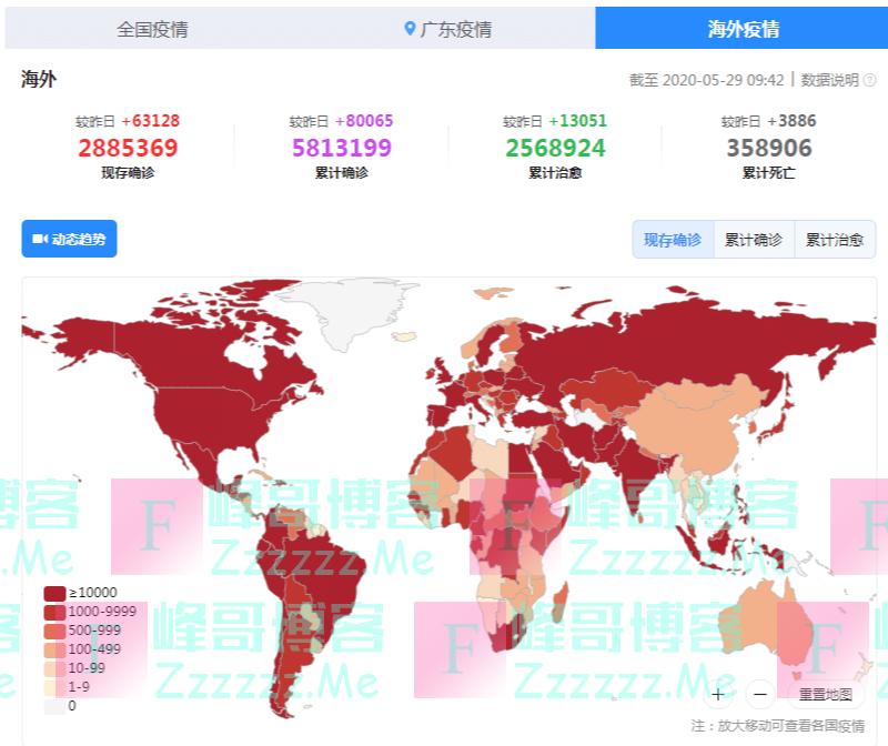 """截止5月29日: 海外单日新增再创新高, 全球""""王炸""""已诞生?"""