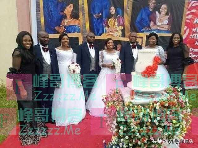 非洲三姐妹同一天嫁给三胞胎兄弟:我们不会认错自己的丈夫