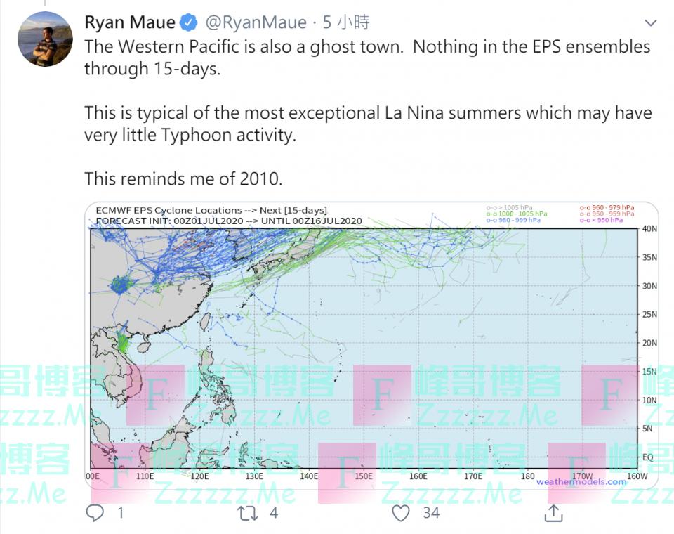太平洋没台风,美国专家着急了?分析:这代表着全球气候异常
