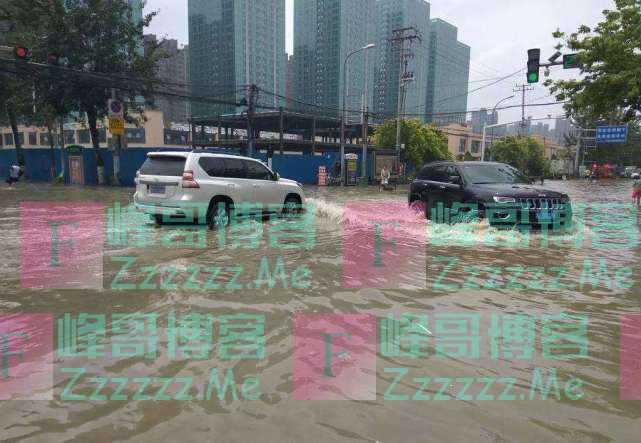 """暴雨天突现""""生财之道"""",把自己汽车故意泡水,就能赚不少钱"""