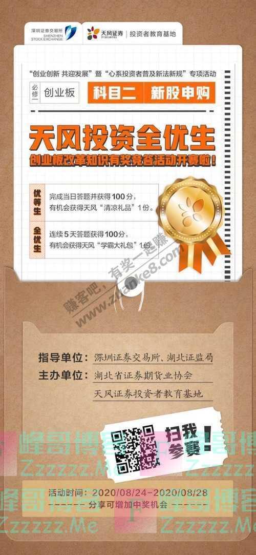 招商证券荆州营业部创业板知识有奖竞答第二弹来袭!(8月28日截止)