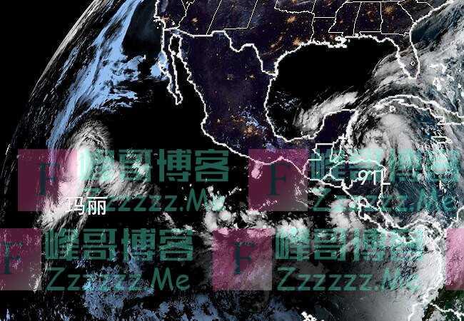 最低947百帕,17级玛丽朝风王进发,91L风力再升级,90%成新风暴