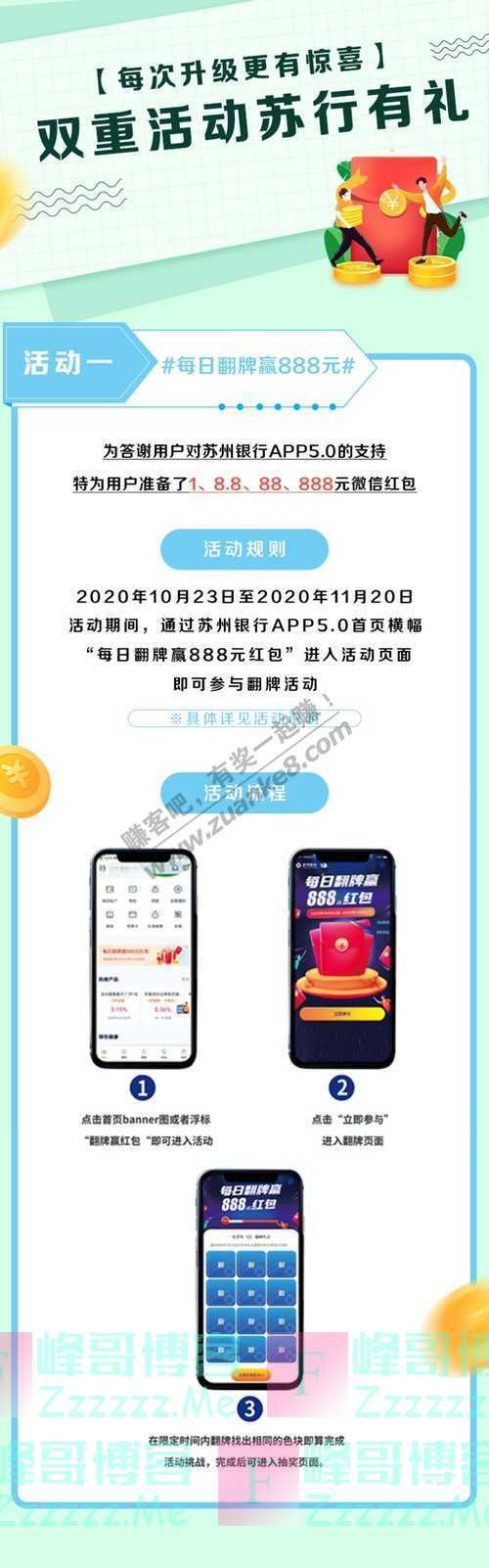 苏州银行苏州银行APP5.0上线啦,小牛电动车、888元红包...(11月22日截止)