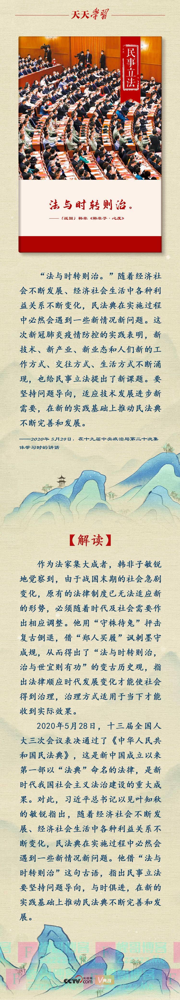 2020习近平总书记十大用典|民事立法篇