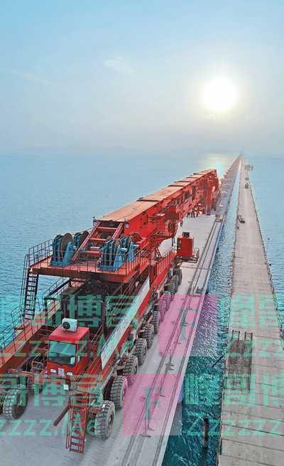 跨海高铁 智能架梁