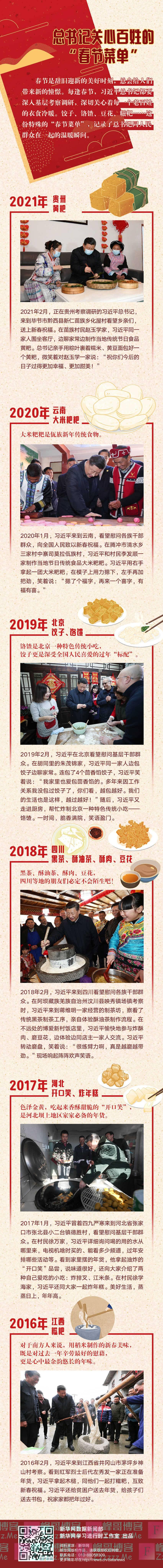 """总书记关心百姓的""""春节菜单"""""""