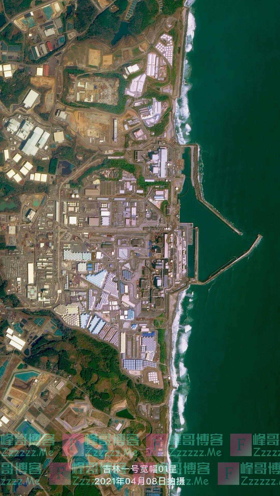 这是中国卫星拍摄的福岛第一核电站储水罐影像