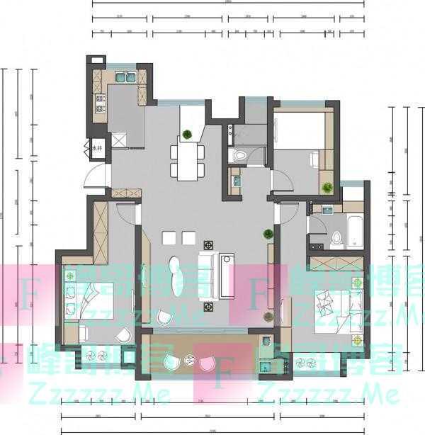 125平的现代风三房,客厅做得太帅,朋友都爱来玩