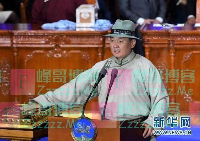 蒙古国新总统呼日勒苏赫宣誓就职