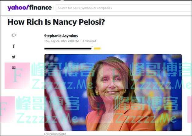 """""""佩洛西有多富?"""",美国网友怒了"""