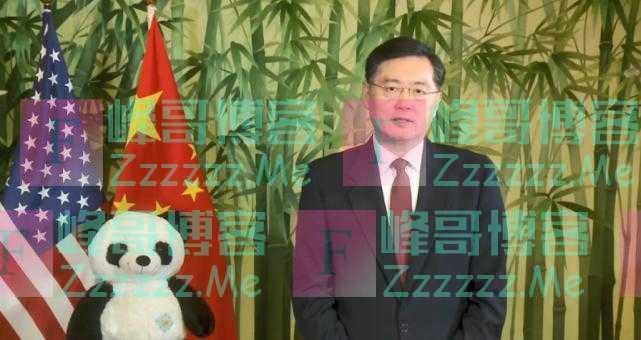 """秦刚向美国国家动物园大熊猫""""小奇迹""""致周岁生日祝福"""