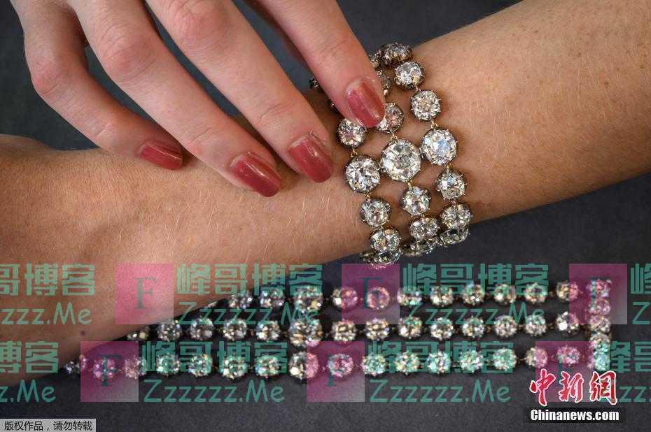 路易十六王后手链将拍卖 上嵌百余颗钻石