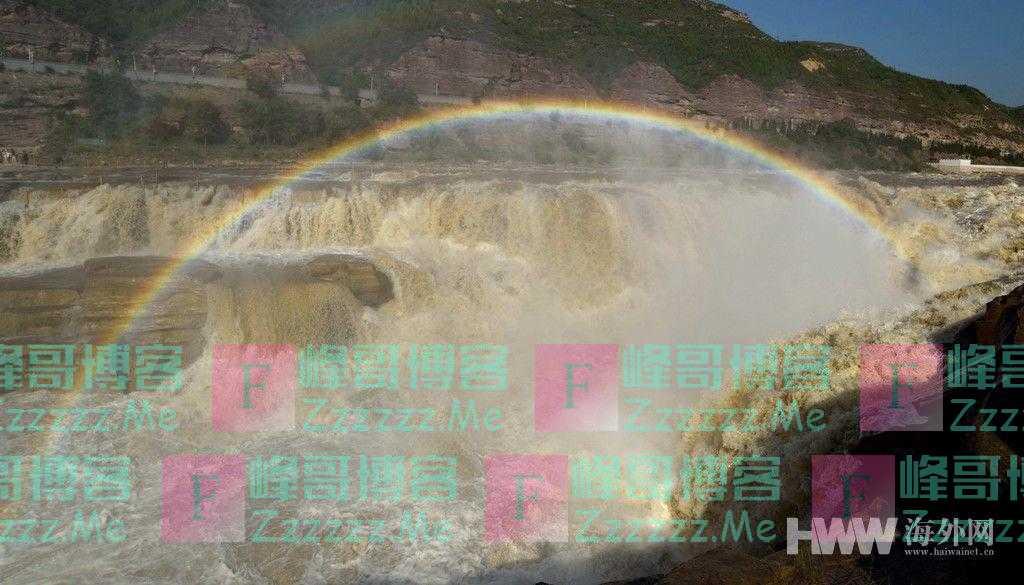 黄河壶口瀑布再现彩虹桥景观