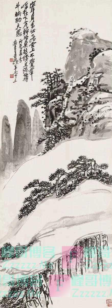 鉴赏|吴昌硕的山水画:燥中带润,润中带燥