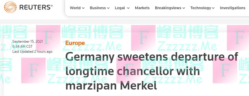 """默克尔即将卸任任期,德国一企业想了个办法""""延长她的任期"""""""